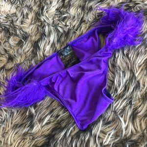 Festival Faux Fur Costume Panties